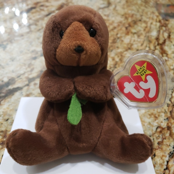 """Vintage Ty Beanie Baby """"Seeweed"""" w/Tag Errors Rare"""